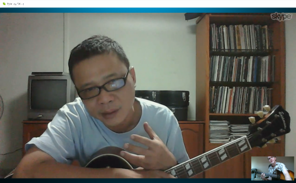 Sy Skype lesson