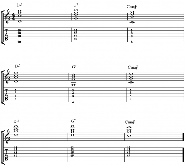 Practice Jazz Guitar Chords