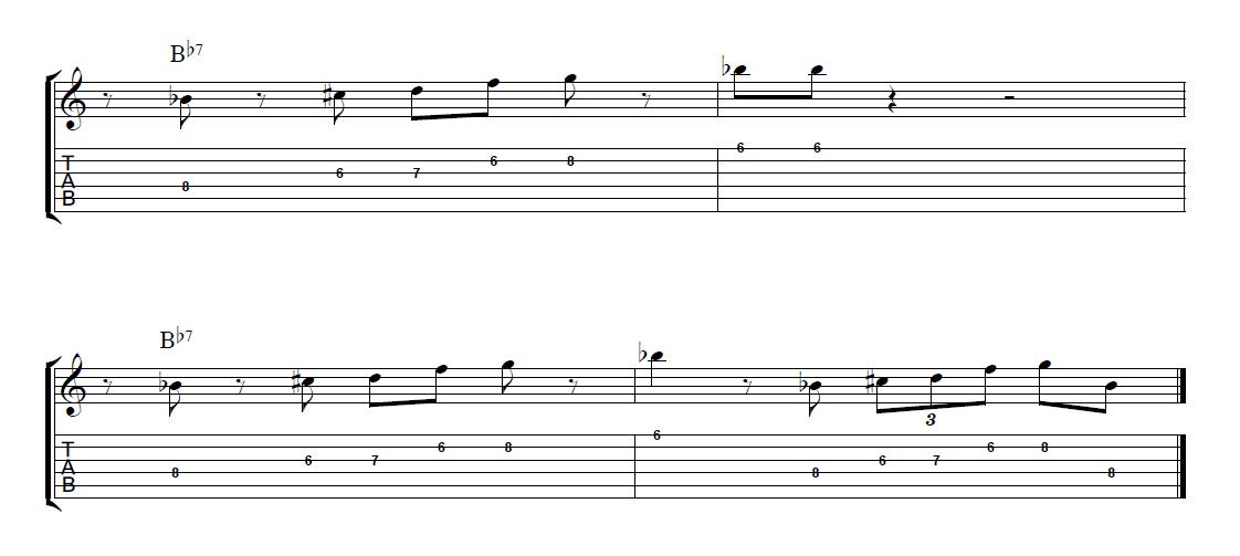 Jazz Blues Guitar Lick - JamieHolroydGuitar.com