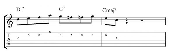 1235 with bebop scale pattern