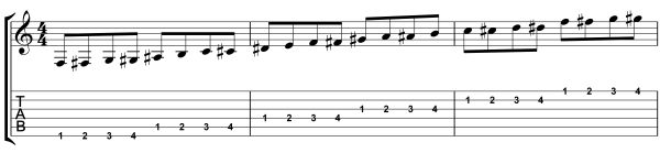 guitar warm up exercise
