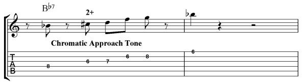 Chromatic Aprroach Notes Lick
