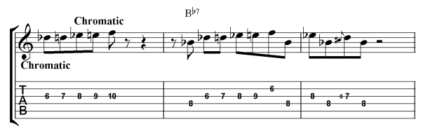 chormatic blues lick