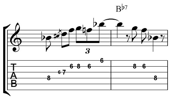 down home blues lick correct