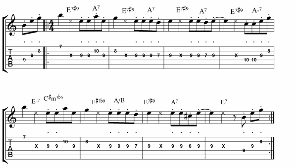 up and at it lead sheet guitar