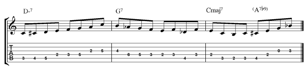 jazz guitar rhythm ii v i