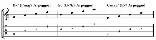 3-9 arpeggio ii v i outline