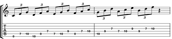 c major scale in triplets