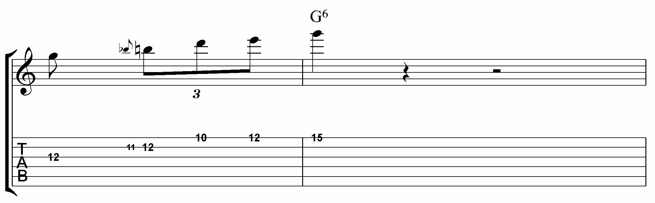 4 note blues lick