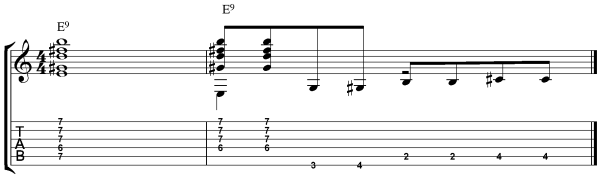 acoustic blues chords - example 3