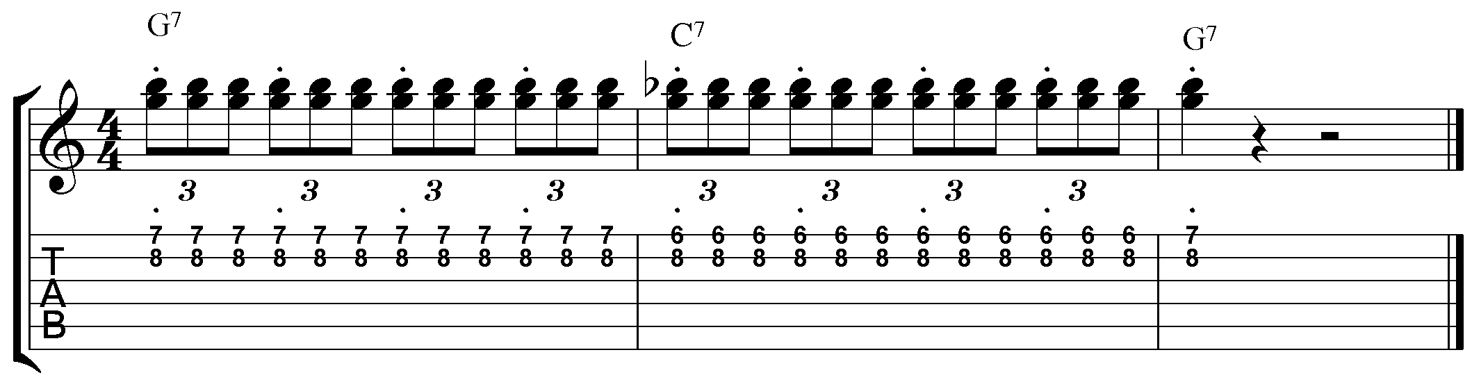 blues licks major chord position
