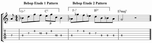 Bebop Guitar Etude Mix
