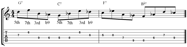 Bebop Guitar Exercise reverse