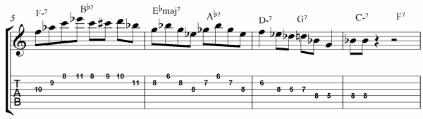 Rhythm Changes Licks Etude Bars 5 - 5