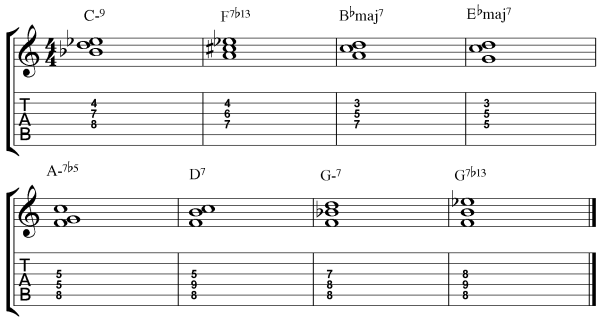 3 Autumn Leaves Chord Progression Studies for Jazz Guitar 3