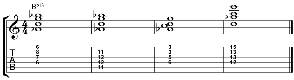 Dominant 7th Chord Inversions - 13th Chords