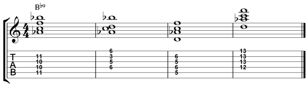 Dominant 7th Chord Inversions - 9th chords