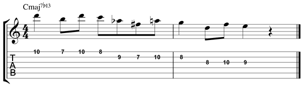 Modal Licks - Harmonic Major