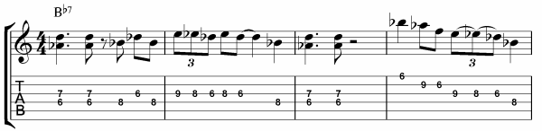 Blues Scale Licks for Guitar Bars 1 - 4