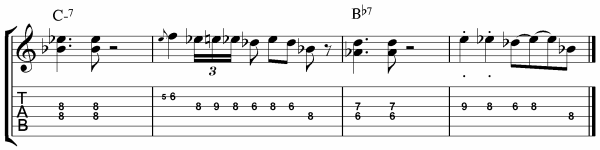 Blues Scale Licks for Guitar Bars 9 - 12