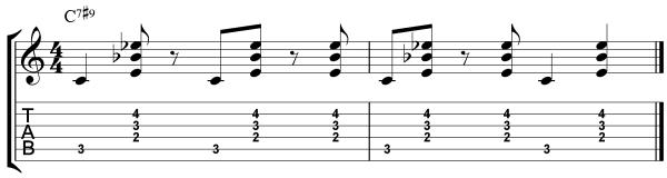 dominant 7#9 chord etude