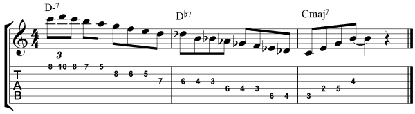 guitar scale exercise example 3