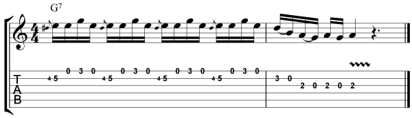 Jimmie Vaughan Guitar Lesson Lick 2