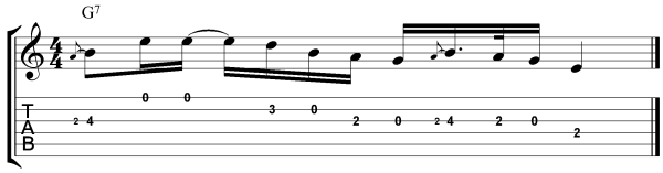 Jimmie Vaughan Guitar Lesson Lick 4