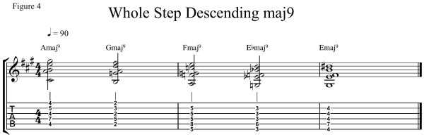 minor 7#5 chord - Whole Step Descending _9