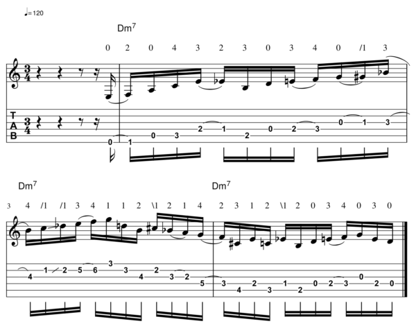 pat martino licks -Melodic Line 11-1