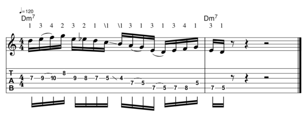 pat martino licks - Melodic Line 3-1